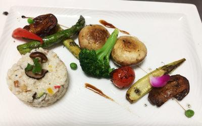松露燉飯與香煎大蘑菇